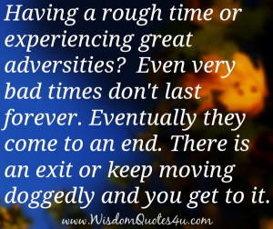 Going through Rough Time Quotes