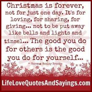 ... sharing-for-giving-not-be-put-away-like-bells-and-lights-and-tinsel