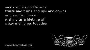 funny 1st wedding anniversary poems
