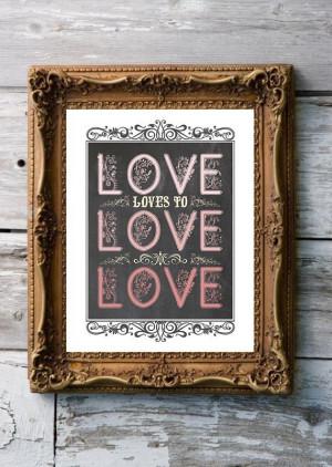 Love loves to love love James Joyce Ulysses by profoundprints, $5.00