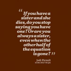 Loss Sister Quotes