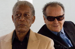 Morgan Freeman and Jack Nicholson star in The Bucket List. © Warner ...