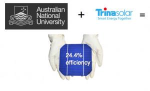 ANU and Trina Solar Panels smash solar efficiency targets.