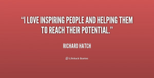 love inspiring people and helping them to reach their potential ...