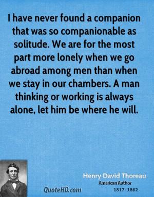 Henry David Thoreau Men Quotes
