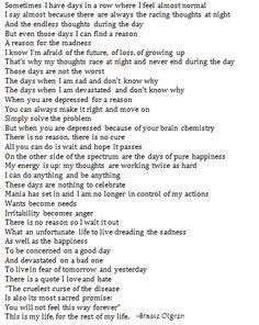 Bipolar Disorder Quotes