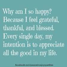 ... my intention is to appreciate all the good in my life happiness quote