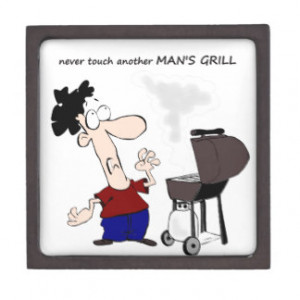 Funny Barbecue Cookout Quote Cartoon Cook Premium Keepsake Box