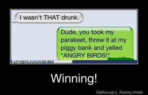 wasnt that drunk.