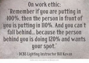 Work Ethic Quote...