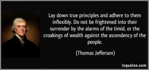 ... of wealth against the ascendency of the people. - Thomas Jefferson