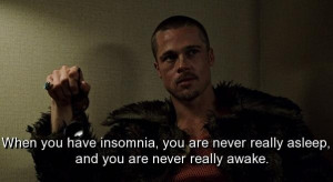 Fight club quotes and sayings movie insomnia asleep awake