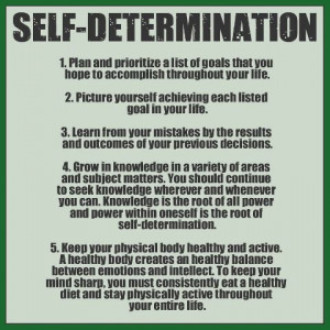 Self-determination...
