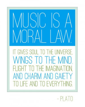 Inspirational Music Quotes Plato Plato. #music #quote #words #