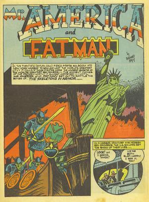 Mr. America and Fat Man-Bernard Baily-1942