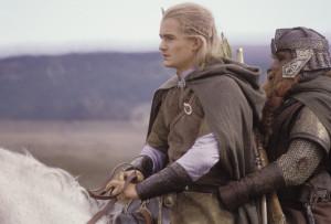 Legolas und Gimli auf Arod