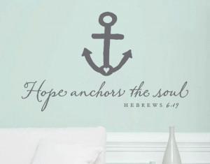 Wall Vinyl Quote - Hebrews 6:19 -