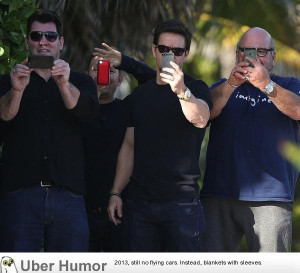 Mark Wahlberg and friends fooling around with paparazzi.