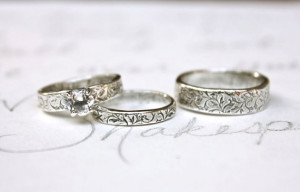 ... vine rings . recycled silver engraved quote rings by peacesofindigo