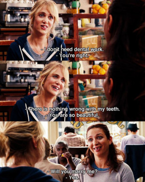 ... my teeth. -You are so beautiful. Bridesmaids quotes funny movie quotes