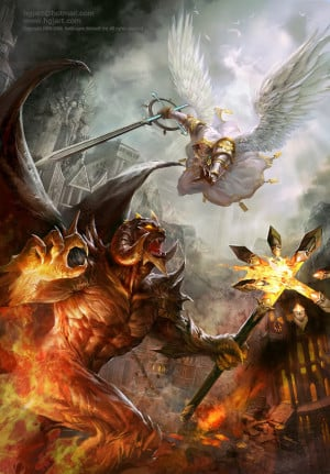 Demon Vs Angel Image