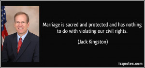 Marriage is sacred and protected and has nothing to do with violating ...