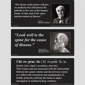 Chiropractic Quotes Poster