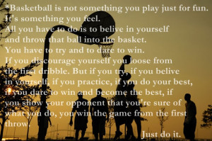 Basketball Is Like Photography