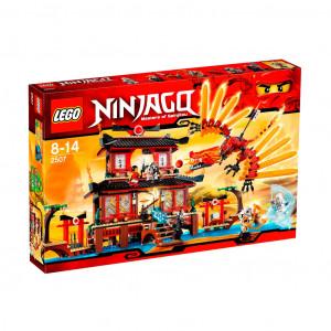 lego 2507 ninjago fire temple incl sensei wu zane kai nya lord