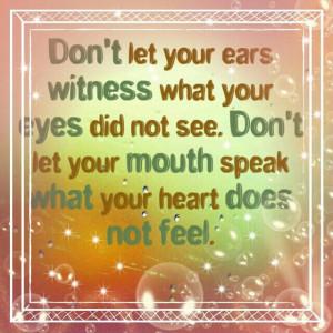 Don't gossip