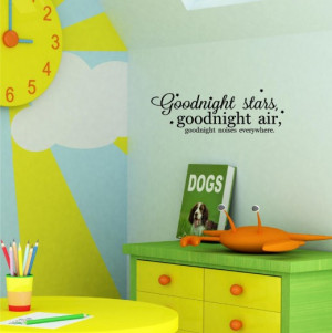 Good Night Moon Wall Decal - Available at Amazon also: Art Decal Quote ...