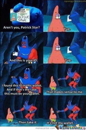 Patrick Star Wallet Meme... by StarBladeBuster