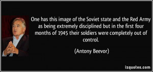 of the Soviet state and the Red Army as being extremely disciplined ...