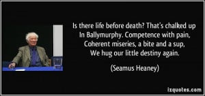 Is there life before death? That's chalked up In Ballymurphy ...