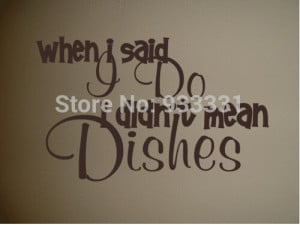 Cute Kitchen Do Dishes Wall Quote Decor Decal(China (Mainland))