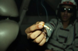 blunt, boy, bud, smoke, sunglasses