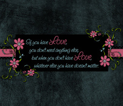 Love Quote Wallpaper with Flowers - Quote Background about Love ...