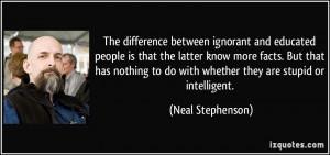 quotes regarding ignorant people