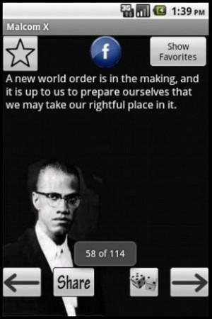 View bigger - Malcolm X Quotes for Android screenshot