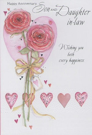 ... Anniversary Cards, Son & Daughter-in-Law, Happy Anniversary Son And
