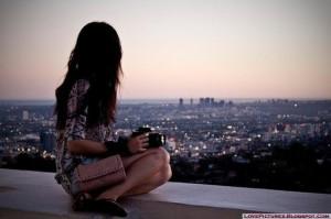 alone, girl, sad, broken, heart, moon, light, waiting, someone