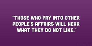Nosy People Quotes Pics