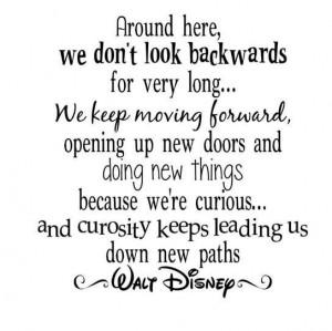 Disney and curiosity... Love this quote.