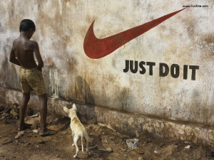 Funny Sayings Nike Just Do It Wallpaper with 1024x768 Resolution