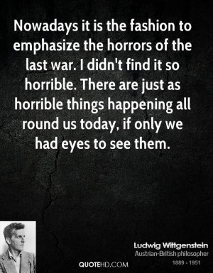 Ludwig Wittgenstein War Quotes