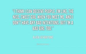 Im A Bad Girl Quotes Im a bad girl quotes i think i