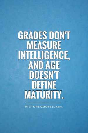 Dont Measure Intelligence...