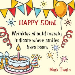 Quote for 50th birthday
