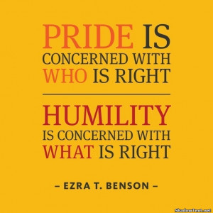 Pride and Humility