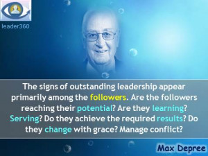 Max Depree leadership quotes: The signs of outstanding leadership ...